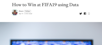 How to win FIFA19 using data